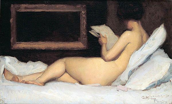 a-model-resting