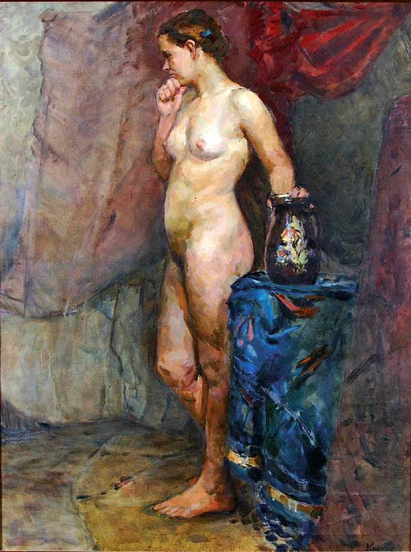 Nude Holding Vase