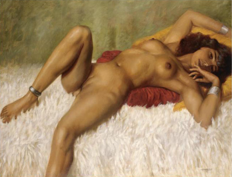Reclining Nude On A Rug