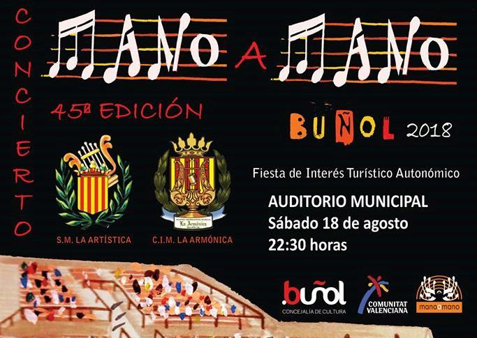 """Buñol, 45 años de música con su """"Mano a Mano"""" entre """"La Artística"""" y """"La Armónica"""""""