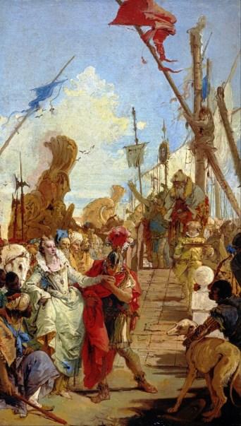 El encuentro de Antonio y Cleopatra