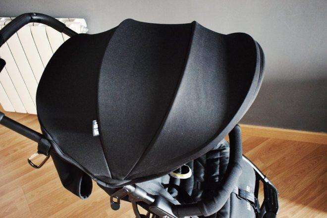 Vista superior de la capota de la silla ligera compacta Kuki de Baby Monsters