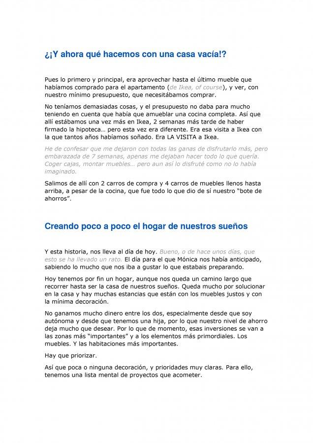 Extracto de la carta de amor para Ikea y Madresfera, como propuesta al concurso CasasConHistoria, pagina 3