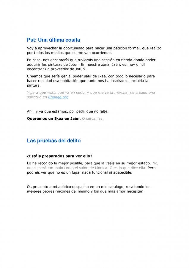 Extracto de la carta de amor para Ikea y Madresfera, como propuesta al concurso CasasConHistoria, pagina 8