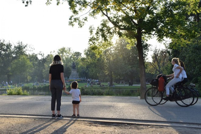 Visitando el Vondelpark en Amsterdam, imprescindible en una visita de 2 o3 días