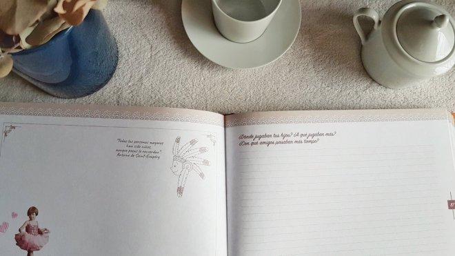 Interior del libro Abuela, háblame de ti ,en el que se pregunta por los hijos de los abuelos