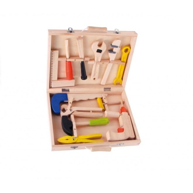 Maletin de herramientas o de utensilios, buenos regalos para niños de unos 3 años.