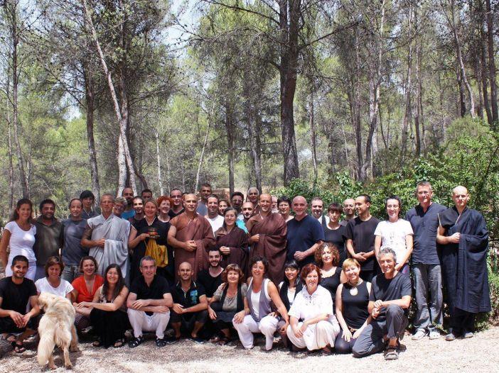 Participantes de la sesshin de introducción al zen de verano en Luz Serena (2012)