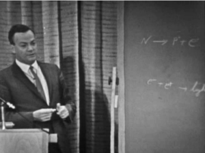Richard Feynman lecturing on conservation laws