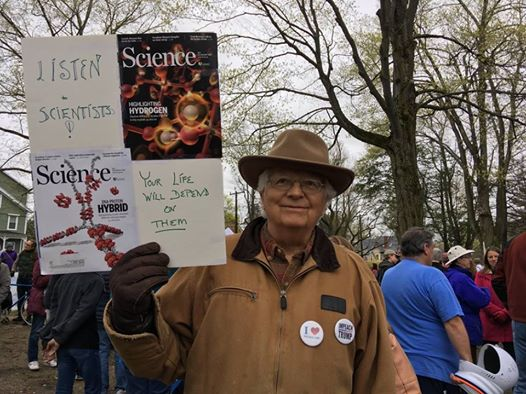 Bob Tinker at the March for Science