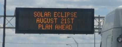 Eclipse traffic sign