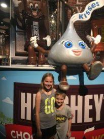Kids at Hershey's Chocolate World
