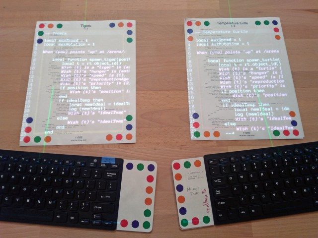 Figure 8. Anyone can grab a keyboard and start making changes in real time!