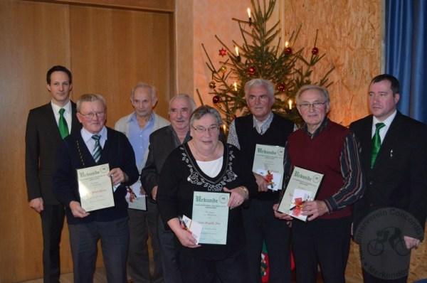 Seit 60 Jahren sind sie treue Mitglieder der Concordia Merkendorf