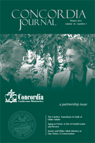 Winter 2012 CONCORDIA JOURNAL sneak peek