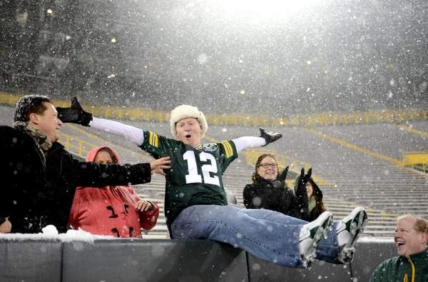 Lutheran pastor makes the Lambeau Leap