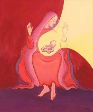 Mary  conceived of God