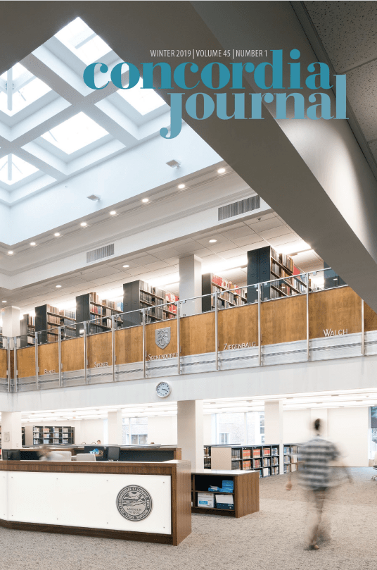 Concordia Journal, Winter 2019
