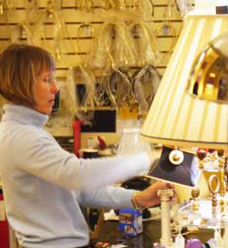 Ann Eckert is the proprietor of Concord Lamp and Shade