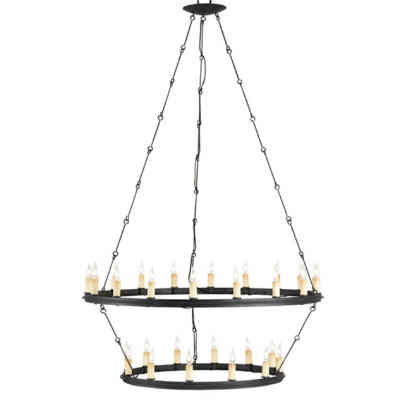 Currey Toulouse 30-Light Chandelier in a Blacksmith Finish