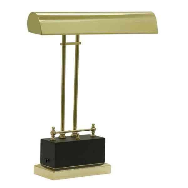 Battery Operated LED Piano Lamp Black/Brass