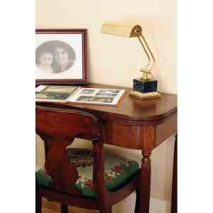 """10"""" Polished  Brass / Black Marble Piano/Desk"""