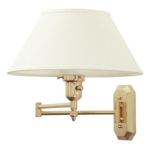 WS-704-House of Troy Swing Arm Wall Lamp in a Polished Brass Finish