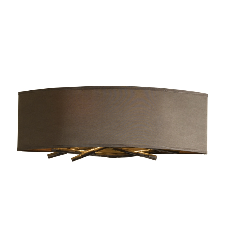 Hubbardton Forge Brindle: Hubbardton Forge Brindille Wall Sconce With Shade Options