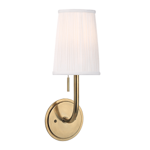 311-AGB_Hudson Valley Single Light Sanford Wall Sconce in an Aged Brass Finish