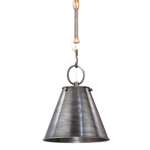 5508-DB_Hudson Valley Altamont Single Light Pendant in a Distressed Bronze Finish with a Metal Shade