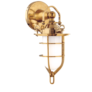 6501-AGB_Hudson Valley New Canaan Single Light Wall Sconce and Bathroom Fixture in an Aged Brass Finish