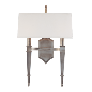 742-HN_Hudson Valley Norwich 2-Light Wall Sconce in an Historic Nickel Finish