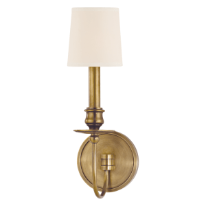 8211-AGB_Hudson Valley Cohasset Single Light Wall Sconce in an Aged Brass Finish