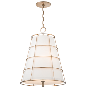 9820-AGB_Hudson Valley Savona 3-Light Pendant with an Aged Brass Cage