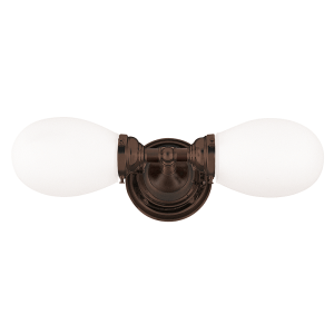 102-OB_Hudson Valley Edison 2-Light Bathroom Fixture in Opal Glass and Old Bronze