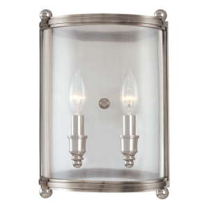 1302-PN_Hudson Valley Mansfield 2-Light Wall Sconce in a Polished Nickel Finish