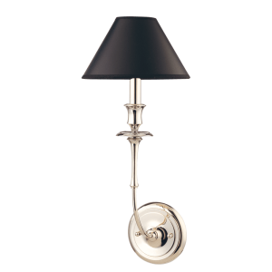 1861-PN_Hudson Valley Jasper Single Light Wall Sconce in a Polished Nickel Finish