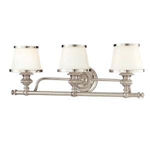 2003-PN_Hudson Valley Milton 3-Light Bath Sconce in a Polished Nickel Finish