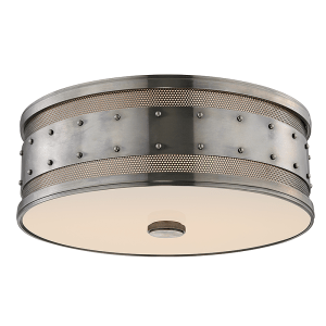 2206-HN_Hudson Valley Gaines 3-Light Flush Mount Ceiling Fixture in an Historic Nickel Finish