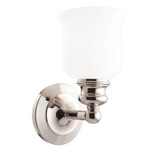 2301-PN_Hudson Valley Riverton Single Light Bath Sconce in a Polished Nickel Finish