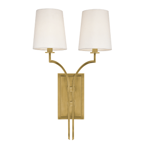 3112-AGB_Hudson Valley Glenford 2-Light Wall Sconce in an Aged Brass Finish