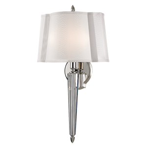 3611-PN_Hudson Valley Oyster Bay 2-Light Wall Sconce in a Polished Nickel Finish