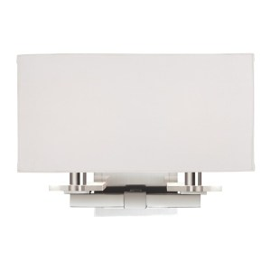 392-PN_Hudson Valley Montauk 2-Light Rectangular Wall Sconce in a Polished Nickel Finish