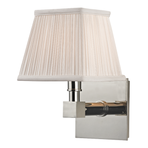 4041-PN_Hudson Valley Dixon Single Light Rectangular Wall Sconce in a Polished Nickel Finish