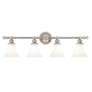 4504-PN_Hudson Valley Weston 4-Light Bath Sconce in a Polished Nickel Finish
