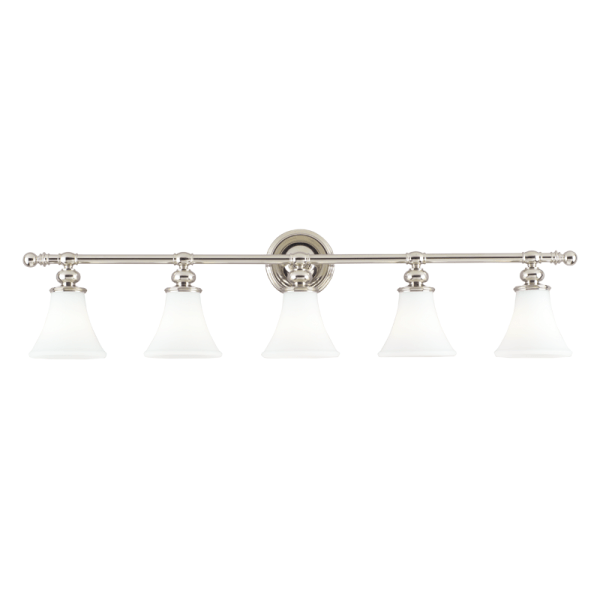 4505-PN_Hudson Valley Weston 5-Light Bath Sconce in a Polished Nickel Finish