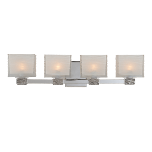 4664-PN_Hudson Valley Hartsdale 4-Light Bath Sconce in a Polished Nickel Finish
