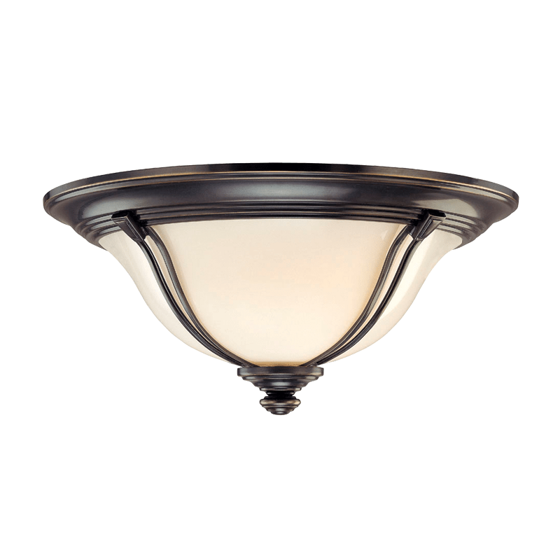 5417-OB_Hudson Valley Carrollton 3-Light Flush Mount Ceiling Fixture in an Old Bronze Finish
