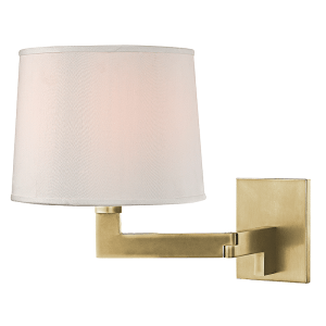 5941-AGB_Hudson Valley Fairport Single Light Wall Sconce in an Aged Brass Finish