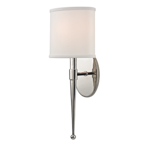 6120-PN_Hudson Valley Madison Single Light Wall Sconce in a Polished Nickel Finish